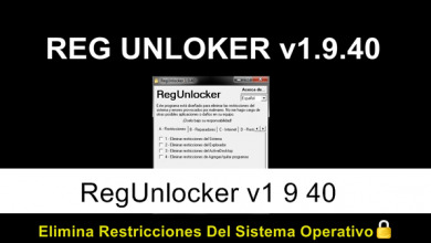 Photo of RegUnlocker v1 9 40 Elimina Restricciones Del Sistema | MEGA