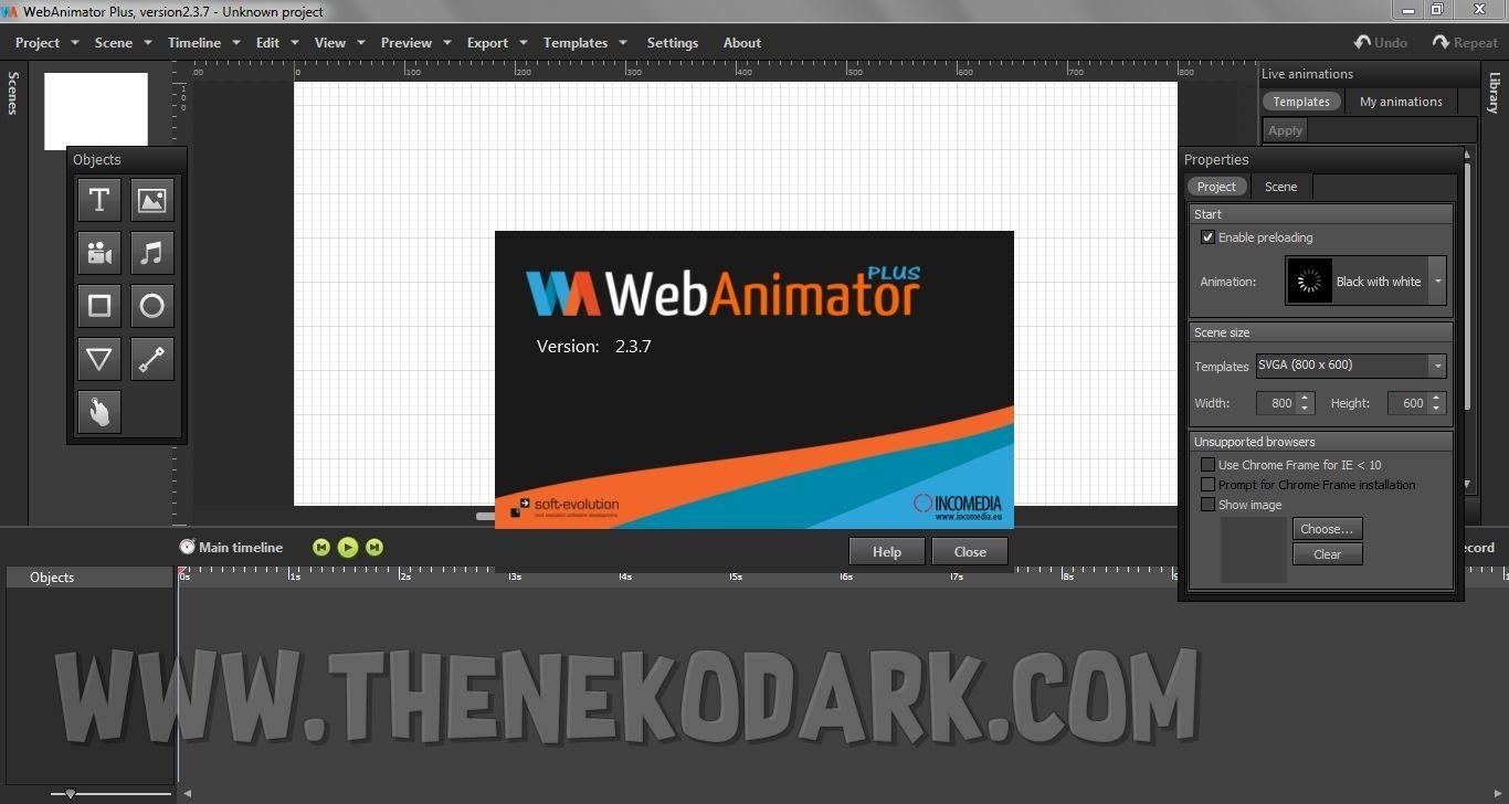 Incomedia WebAnimator Plus 2.3.7 Animaciones en HTML5 y ...