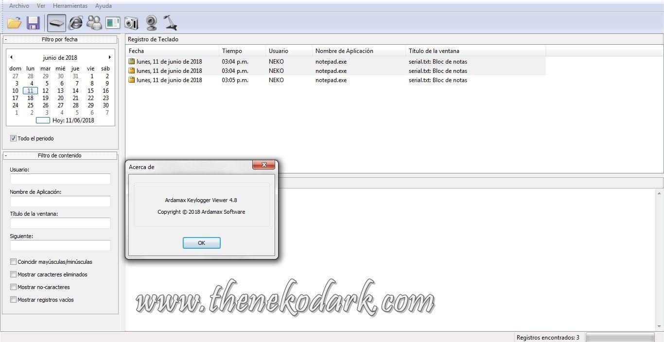 ücretsiz Keylogger : Spyrix Keylogger, Spyrix Personal Monitor
