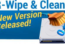 Photo of R-Wipe & Clean 20.0 Build 2271, Borrar archivos inútiles y mantener la privacidad de su computadora